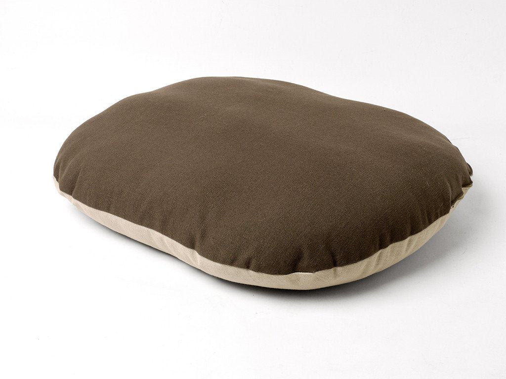 Oval Dog Bed Mattress Cover - Coffee side up
