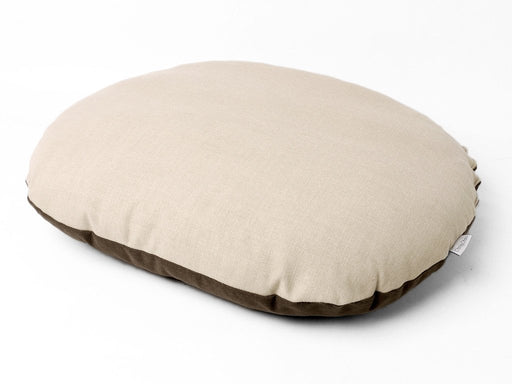 Oval Dog Bed Mattress Cover - Stone side up