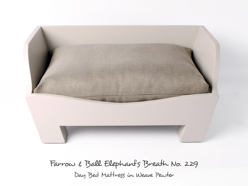 Raised Wooden Dog Bed in Elephant's Breath