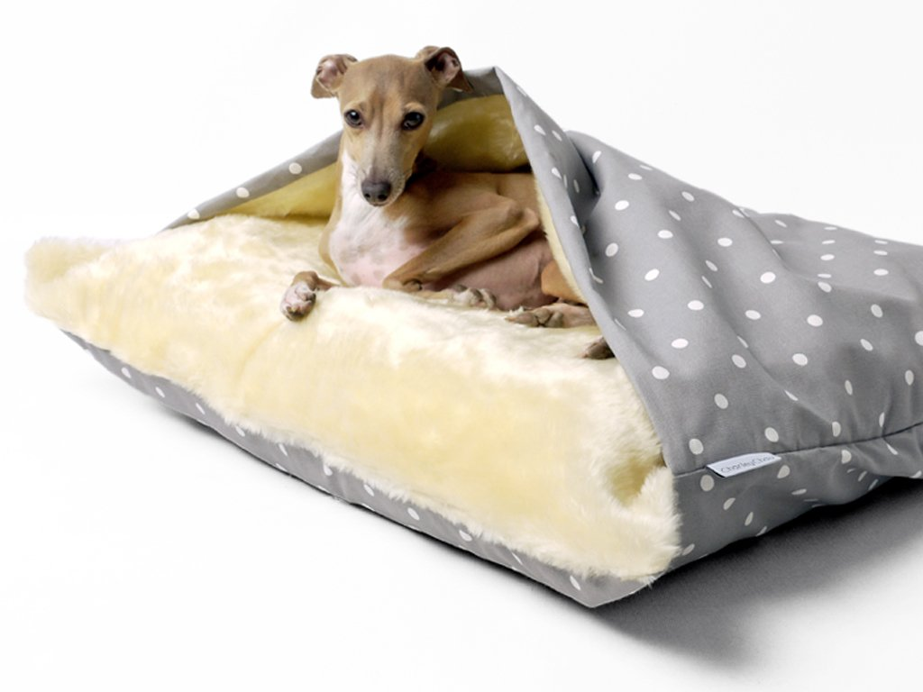 Snuggle Bed in Dotty Dove Grey