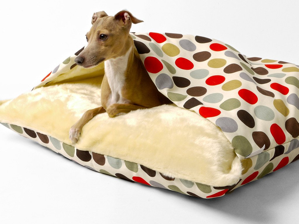 Dog Snuggle Bed in Cotton