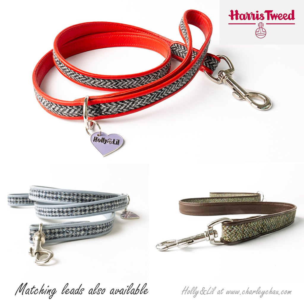 Harris Tweed Dog Leads by Holly&Lil