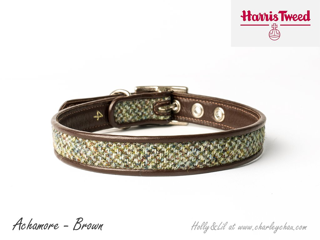 Harris Tweed Dog Collars by Holly&Lil