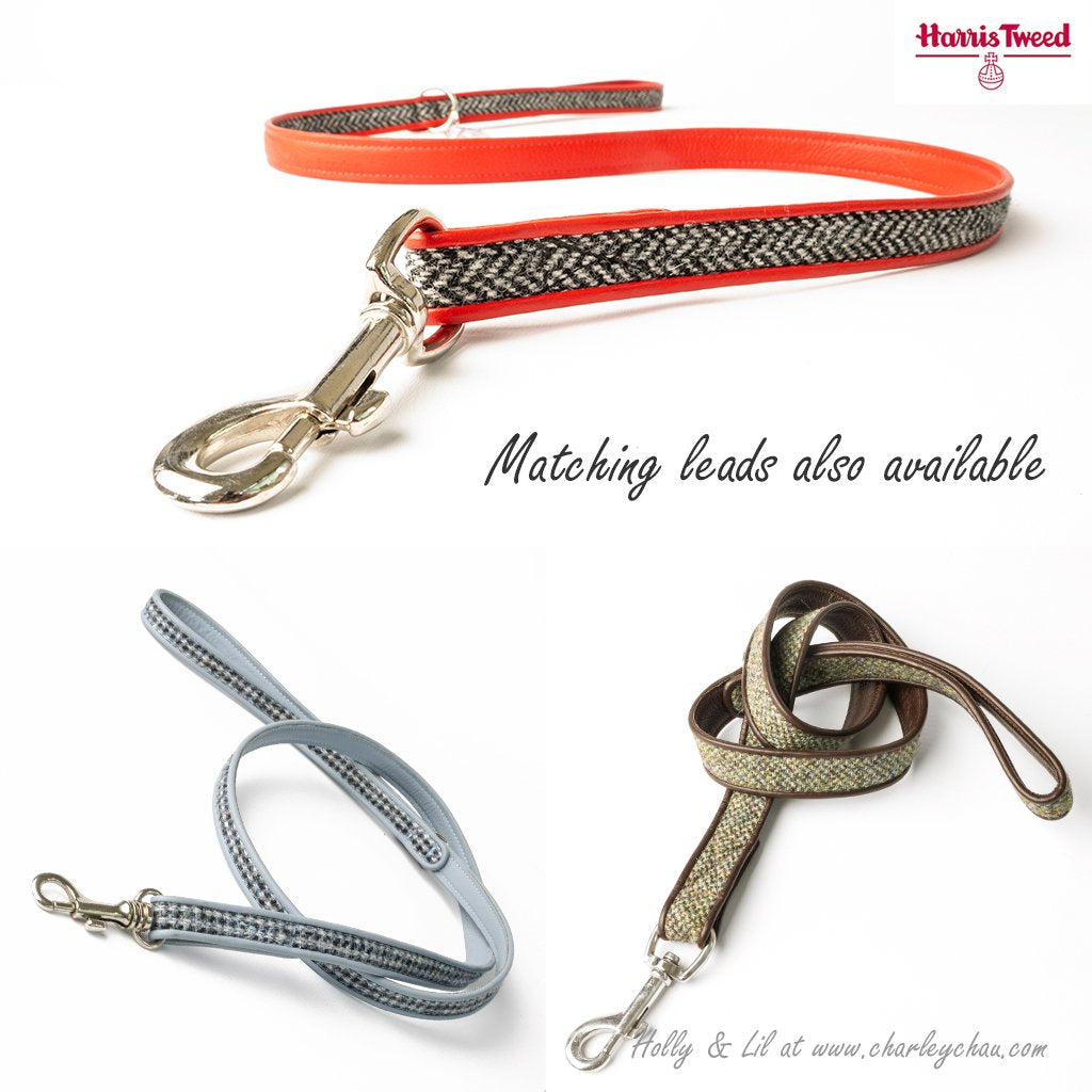Dog Leads in Harris Tweed by Holly&Lil