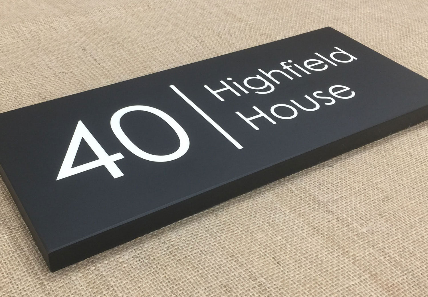 Slate sign 400mm x 150mm 20mm thick