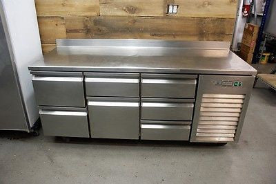 Desmon Refrigerated Counter Work Top Cabinet w/ Drawers - Gold Line 76 1/2""