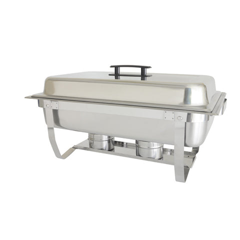 8 QT FULL SIZE FOLDING STAND CHAFER, STAINLESS STEEL