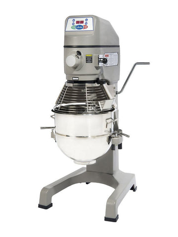 Globe SP30P 30 Quart Gear Driven Commercial Planetary Pizza Mixer 3-Speed w/ Attachments