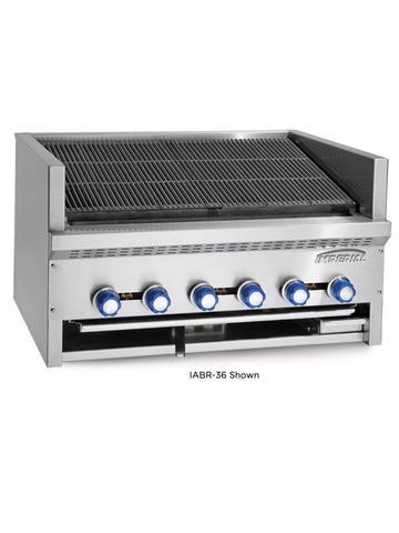 IMPERIAL IABR-72 Countertop Steakhouse Char Broiler, 72""