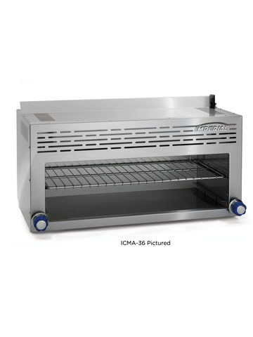 "Imperial ICMA-48 Cheesemelter, 48"" wide, Gas, Infrared burners, Adjustable gas valves & Continuous pilots"