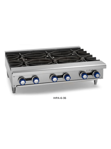 "Imperial - IHPA-6-36 - 36"" Hot Plate w/ 6 Burners, Gas"