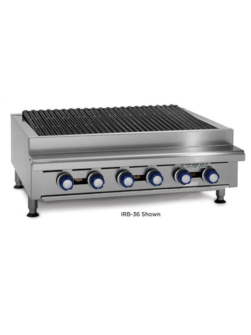 "Imperial IRB-72 72"" Commercial Gas Radiant Char Broiler Grill, Counter Top"