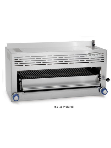 "Imperial - ISB-24 - 24"" Infra-Red Salamander Broiler w/ Pull Out Rack & Adjustable Gas Valves"