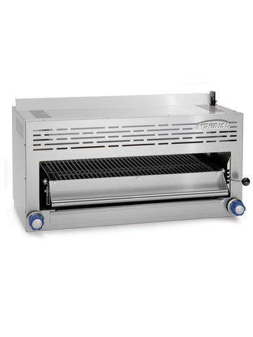 "Imperial - ISB-36 - 36"" Infra-Red Salamander Broiler w/ Pull Out Rack & Adjustable Gas Valves"