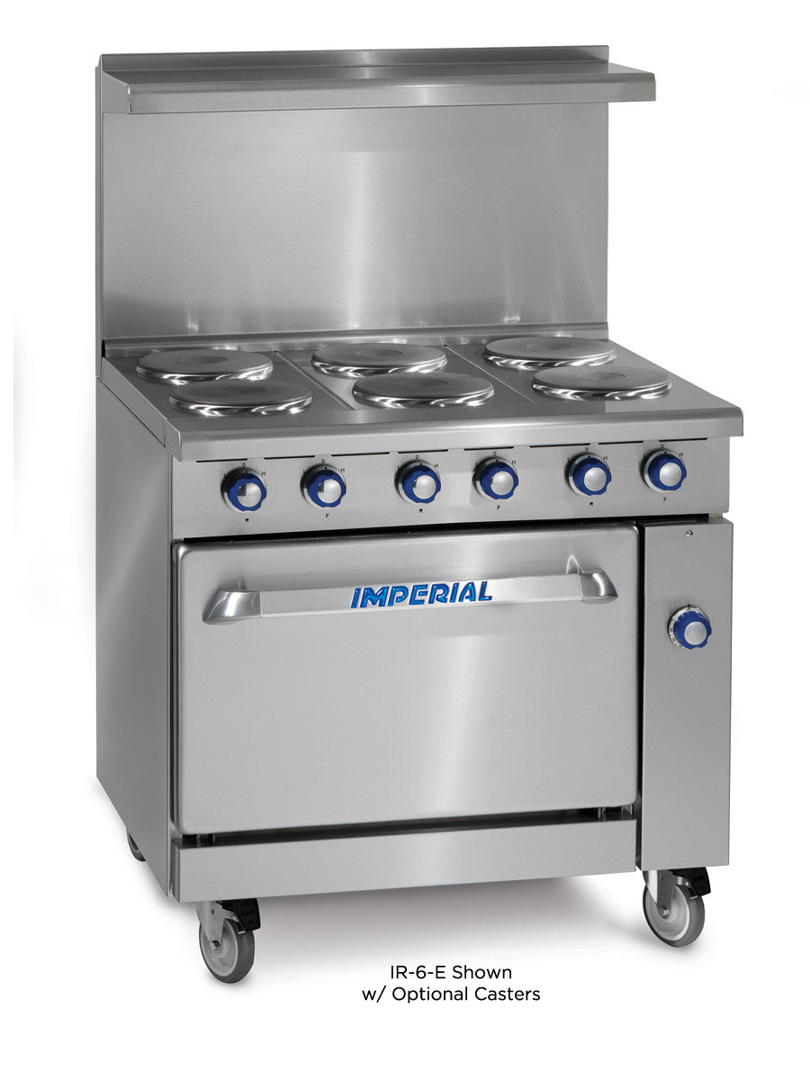 Imperial Range Ir 6 E Commercial 36 Electric Burner Ice Machine Wiring Restaurant W Standard Oven