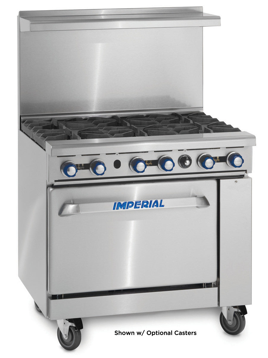 "Restaurant Kitchen Gas Stove imperial range ir-6 commercial 36"" gas 6 burner restaurant range w"