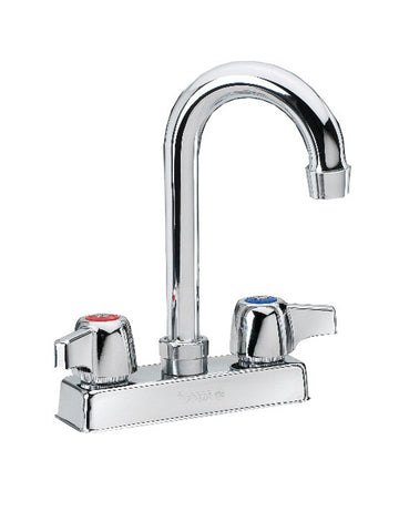 "Krowne Metal (11-400L) - 4"" Deck Mounted Faucet with Gooseneck Spout, Low Lead"
