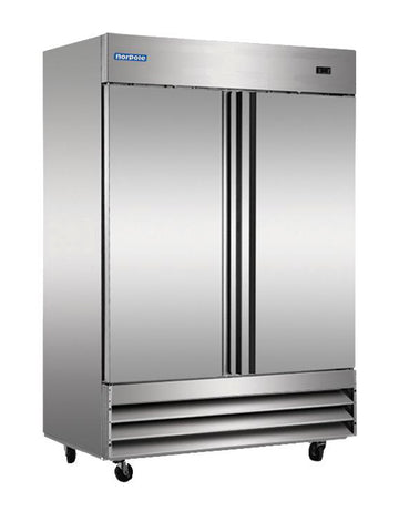 NORPOLE NP2R 2 Door Reach-In Refrigerator Stainless Steel