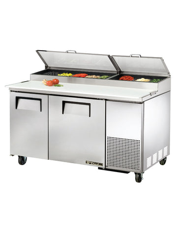 "TRUE TPP-60 60"" 2 Door Refrigerated Pizza Prep Table"