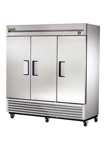 TRUE TS-72 3 Door Reach-In  Stainless Steel Refrigerator