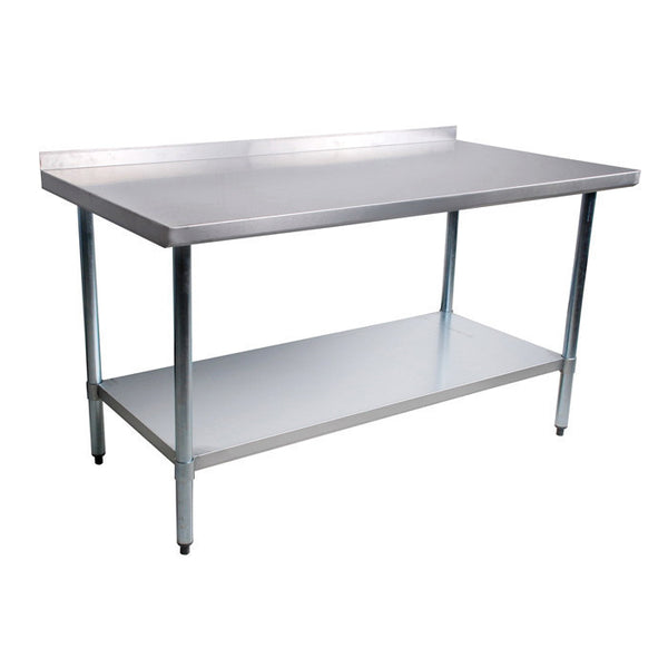 X Work Table Stainless Steel Top Galvanized Shelf - 36 x 48 stainless steel table