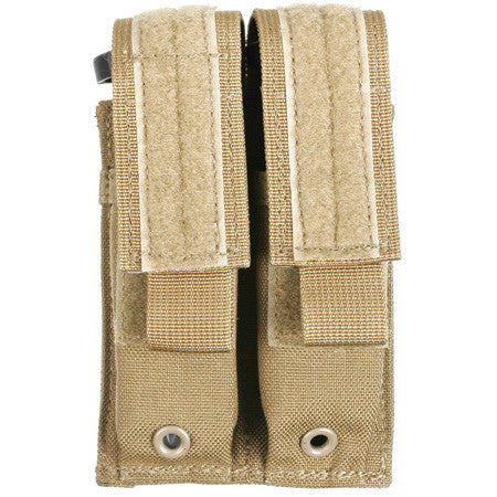 38CL09 BLACKHAWK DOUBLE PISTOL MAG POUCH W/SPEED CLIPS