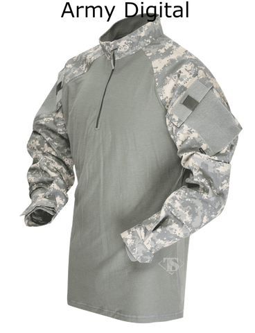 TRU-SPEC TACTICAL RESPONSE UNIFORM® (TRU®) 1/4 ZIP COMBAT SHIRT 50/50 NYLON/COTTON RIP-STOP
