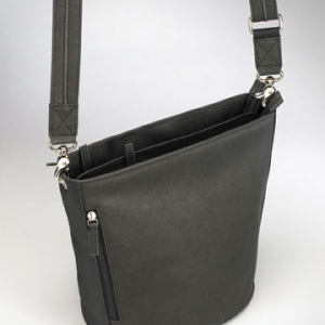 HC-G-19/BK Bucket Tote in Black or Brown Leather