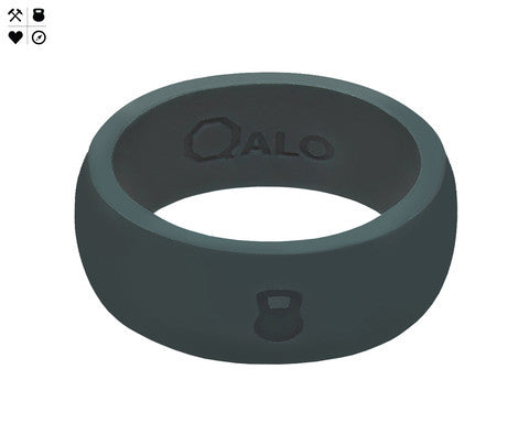 QALO Men's Slate Grey Silicone Ring