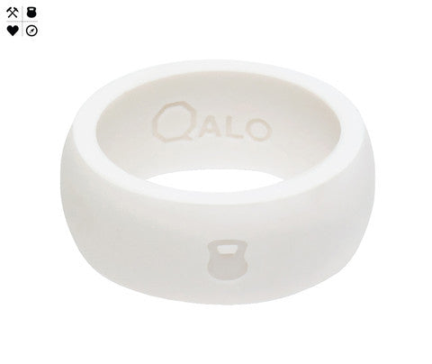 QALO Men's White Silicone Ring