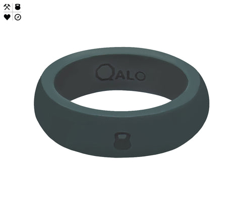 QALO Women's Slate Grey Silicone Ring