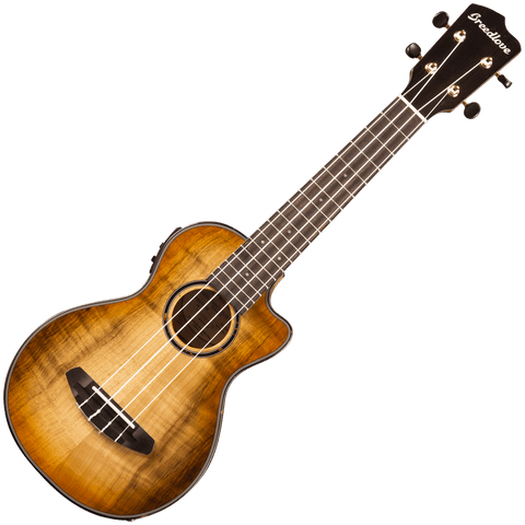 Breedlove Lu'au Concert Ukulele Natural Shadow CE – Myrtlewood