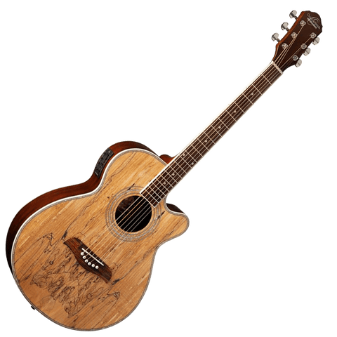 Oscar Schmidt OG10CESM Acoustic Electric Guitar — Spalted Maple
