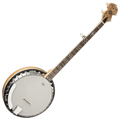 Oscar Schmidt OB5SP Spalted Maple 5-String Banjo