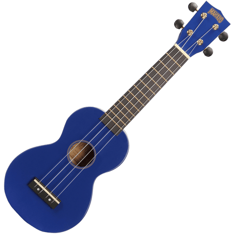 Mahalo MR1BU Rainbow Series Soprano Ukulele – Blue