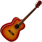 Oscar Schmidt OF2CS Folk Guitar — Cherry Sunburst
