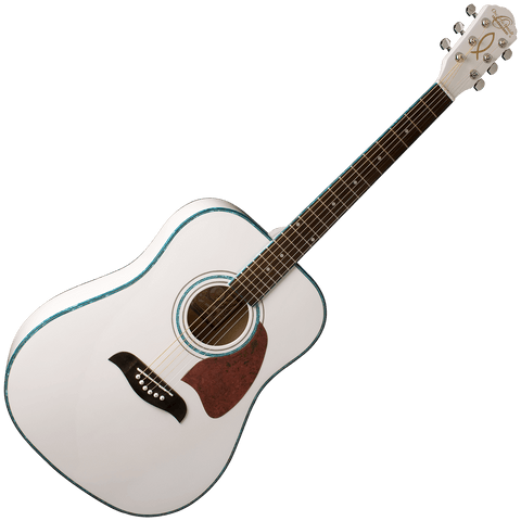 Oscar Schmidt OG2WH Dreadnought Guitar — White