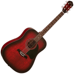 Oscar Schmidt OG2FBC Dreadnought Guitar — Flamed Black Cherry