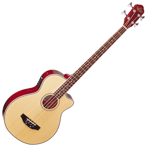 Oscar Schmidt OB100N Acoustic/Electric Bass — Natural