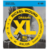 D'Addario EXL125 Nickel Wound, Super Light Top/Regular Bottom .009-.046