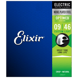 Elixir OPTIWEB Nickel Electric — 19027 Custom Light .009-.046