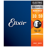 Elixir NANOWEB Nickel Electric — 7-String 12074 Light/Heavy .010-.059