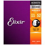 Elixir NANOWEB 80/20 Bronze Acoustic — 11027 Custom Light .011-.052