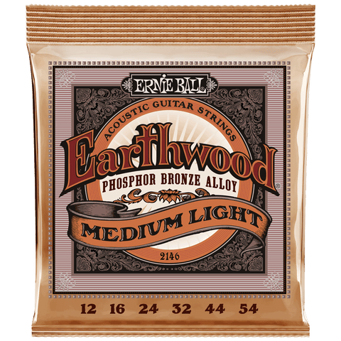 Ernie Ball Earthwood Phosphor Bronze Acoustic Medium Light 2146 .012-.054