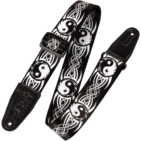 "Levy's MP-15 2"" Polyester Tribal Yin Yang Guitar Strap"