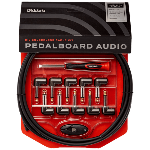 D'Addario DIY Solderless Custom Cable Kit, 10 feet, 10 plugs – PW-GPKIT-10