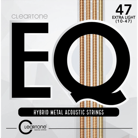 Cleartone 7810 EQ Hybrid Metal Acoustic Strings – Extra Light 10-47