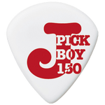 Pickboy J-Pick, White, Cellulose, 10-pack PB134WP