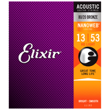 Elixir NANOWEB 80/20 Bronze Acoustic — 11182 HD Light .013-.053
