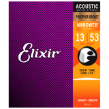 Elixir NANOWEB Phosphor Bronze Acoustic — 16182 HD Light .013-.053
